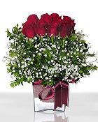 Aksaray çiçek , çiçekçi , çiçekçilik  11 adet gül mika yada cam - anneler günü seçimi -