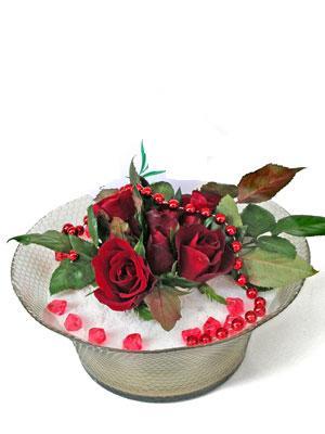 Aksaray çiçek siparişi vermek  EN ÇOK Sevenlere 7 adet kirmizi gül mika yada cam tanzim