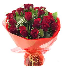 Aksaray anneler günü çiçek yolla  11 adet kimizi gülün ihtisami buket modeli