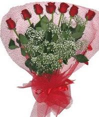 7 adet kipkirmizi gülden görsel buket  Aksaray çiçek mağazası , çiçekçi adresleri