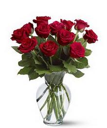 Aksaray çiçek gönderme sitemiz güvenlidir  cam yada mika vazoda 10 kirmizi gül