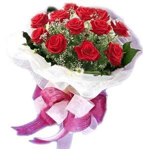 Aksaray çiçek satışı  11 adet kırmızı güllerden buket modeli