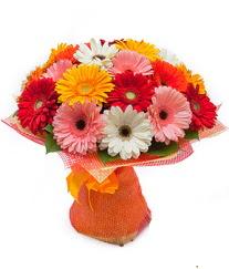 Renkli gerbera buketi  Aksaray anneler günü çiçek yolla