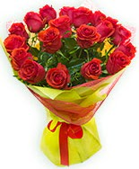 19 Adet kırmızı gül buketi  Aksaray çiçek siparişi vermek