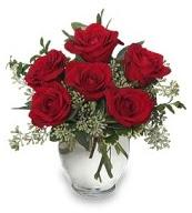 Vazo içerisinde 5 adet kırmızı gül  Aksaray çiçekçi mağazası