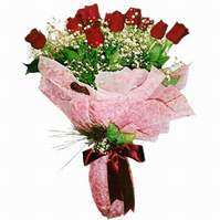 Aksaray çiçek siparişi sitesi  12 adet kirmizi kalite gül