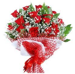 11 kırmızı gülden buket  Aksaray 14 şubat sevgililer günü çiçek