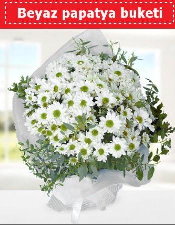 Beyaz Papatya Buketi  Aksaray 14 şubat sevgililer günü çiçek