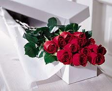 Aksaray çiçek satışı  özel kutuda 12 adet gül