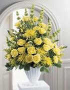 Aksaray çiçek siparişi sitesi  sari güllerden sebboy tanzim çiçek siparisi