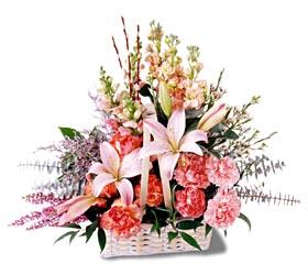 Aksaray çiçek siparişi sitesi  mevsim çiçekleri sepeti özel tanzim