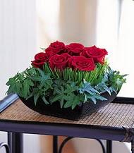 Aksaray çiçek siparişi sitesi  10 adet kare mika yada cam vazoda gül tanzim