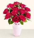 Aksaray hediye çiçek yolla  10 kirmizi gül cam yada mika vazo tanzim