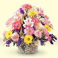 Aksaray uluslararası çiçek gönderme  sepet içerisinde gül ve mevsim