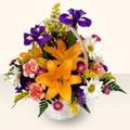 Aksaray 14 şubat sevgililer günü çiçek  sepet içinde karisik çiçekler