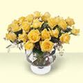 Aksaray çiçekçi telefonları  11 adet sari gül cam yada mika vazo içinde