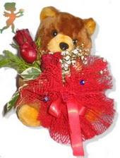 oyuncak ayi ve gül tanzim  Aksaray çiçekçiler