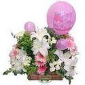 balon ve çiçeklerle tanzim  Aksaray internetten çiçek satışı