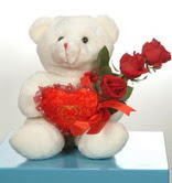3 adetgül ve oyuncak   Aksaray online çiçekçi , çiçek siparişi