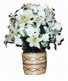 yapay karisik çiçek sepeti   Aksaray çiçek mağazası , çiçekçi adresleri