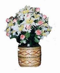 yapay karisik çiçek sepeti   Aksaray çiçek servisi , çiçekçi adresleri