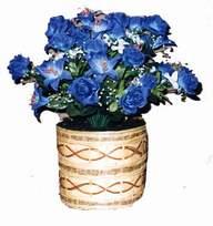 yapay mavi çiçek sepeti  Aksaray cicekciler , cicek siparisi