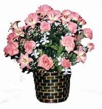 yapay karisik çiçek sepeti  Aksaray çiçek online çiçek siparişi