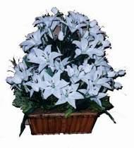 yapay karisik çiçek sepeti   Aksaray online çiçek gönderme sipariş