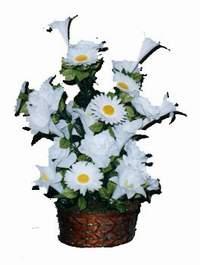 yapay karisik çiçek sepeti  Aksaray çiçek siparişi vermek