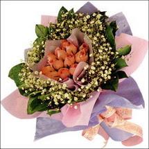 11  adet  gül ve   elyaflar   Aksaray çiçekçi mağazası