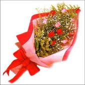 12 adet renkli  gül buketi   Aksaray çiçekçi mağazası