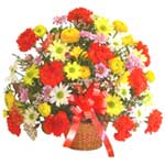 karisik renkli çiçek sepet   Aksaray çiçek gönderme sitemiz güvenlidir