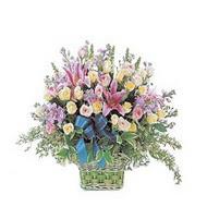 sepette kazablanka ve güller   Aksaray çiçek gönderme