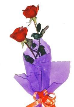 2  adet kirmizi gül buketi   Aksaray çiçek , çiçekçi , çiçekçilik