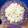 71 adet beyaz gül buketi   Aksaray çiçek , çiçekçi , çiçekçilik