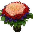 71 adet renkli gül buketi   Aksaray ucuz çiçek gönder