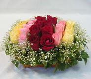 15 adet reprenkli gül sepeti   Aksaray çiçek yolla