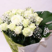 Aksaray hediye çiçek yolla  11 adet sade beyaz gül buketi