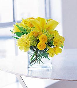 Aksaray ucuz çiçek gönder  sarinin sihri cam içinde görsel sade çiçekler