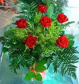 6 adet kirmizi gül buketi   Aksaray online çiçek gönderme sipariş