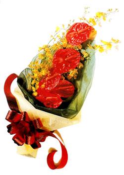 özel 5 adet antorium buketi   Aksaray çiçek gönderme sitemiz güvenlidir