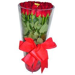 Aksaray çiçek online çiçek siparişi  12 adet kirmizi gül cam yada mika vazo tanzim