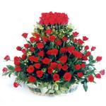 Aksaray kaliteli taze ve ucuz çiçekler  41 adet kirmizi gülden sepet tanzimi