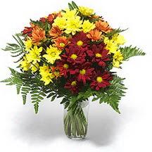 Aksaray çiçek siparişi sitesi  Karisik çiçeklerden mevsim vazosu