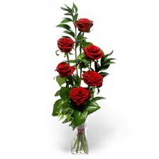 Aksaray uluslararası çiçek gönderme  mika yada cam vazoda 6 adet essiz gül