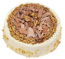 Karamelli 4 ile 6 kisilik yas pasta  Aksaray çiçek yolla