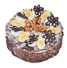 Muzlu çikolatali yas pasta 4 ile 6 kisilik   Aksaray uluslararası çiçek gönderme