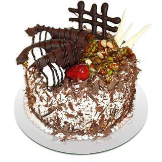 4 ile 6 kisilik çikolatali yas pasta  Aksaray kaliteli taze ve ucuz çiçekler