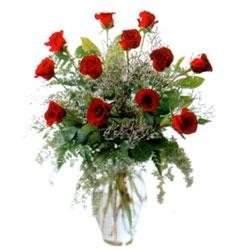 Vazo içerisinde 11 kirmizi gül  Aksaray çiçek siparişi vermek