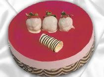 pasta siparisi 4 ile 6 kisilik yas pasta çilekli yaspasta  Aksaray çiçek servisi , çiçekçi adresleri
